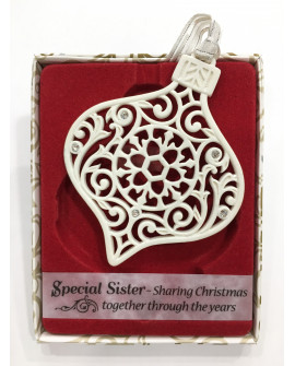 Christmas Tree Decoration With Crystals From Swarovski Special Sister