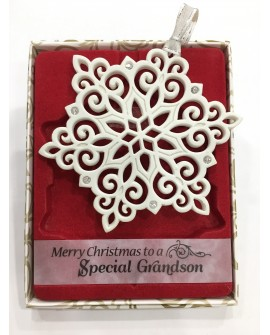 CHRISTMAS TREE DECORATIONS CRYSTALS FROM Swarovski® SPECIAL GRANDSON