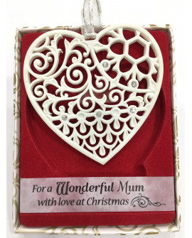 CHRISTMAS TREE DECORATION WITH CRYSTALS FROM SWAROVSKI® WONDERFUL MUM