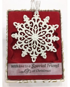 Christmas Tree Decoration With Crystals From Swarovski Special Friend