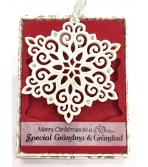 Christmas Tree Decorations with Crystals from Swarovski® SPECIAL GRANDMA AND GRANDAD