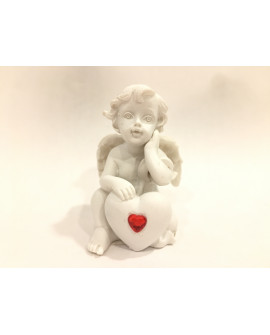 White Angel  With Red Heart