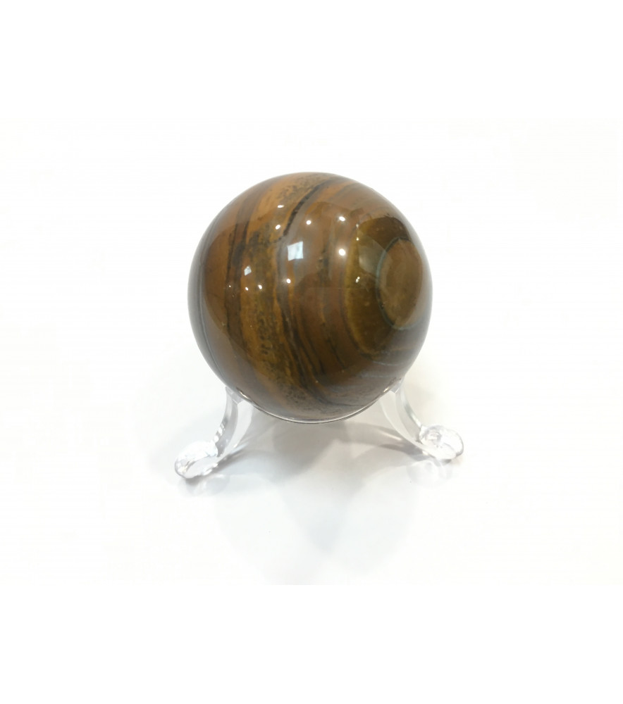 GOLD TIGERS EYE SPHERE + STAND - SMALL