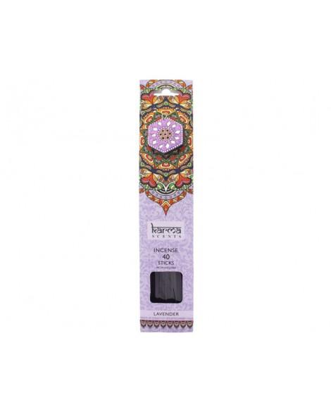 Incense Sticks Karma Lavender Incense Stick Gift Set & Incense Stick Holder Gift 40 Sticks