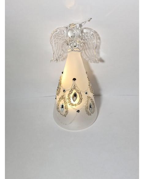 ANGEL  LED LIGHT SILVER GLITTER