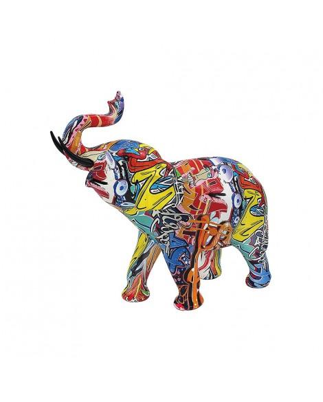 Lesser & Pavey Graffiti Elephant by Leonardo