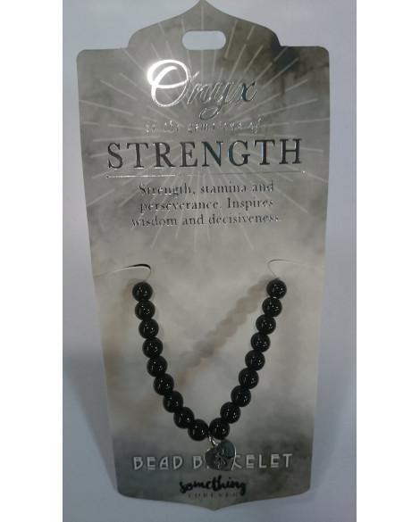 Black Onyx Bracelet With Beads