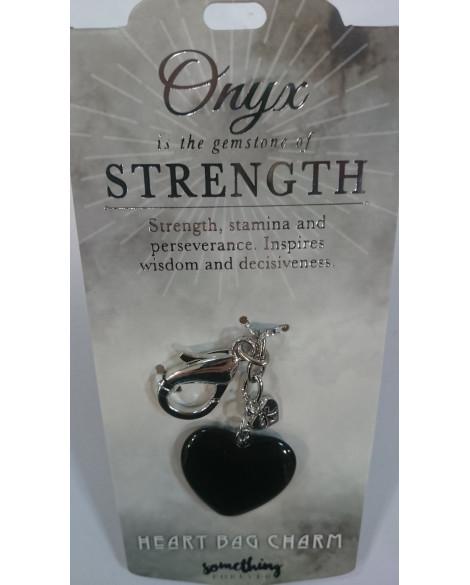 Black Onyx Bag Charm Black Onyx Keyring