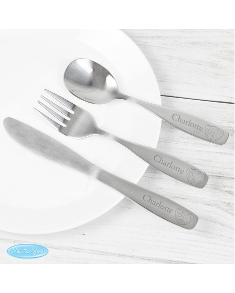 Personalised Tiny Tatty Teddy 3 Piece Cutlery Set