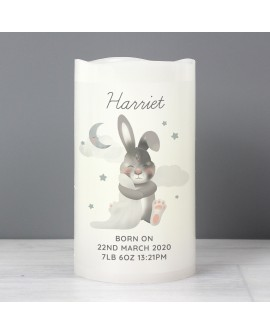 Personalised Baby Bunny LED Candle