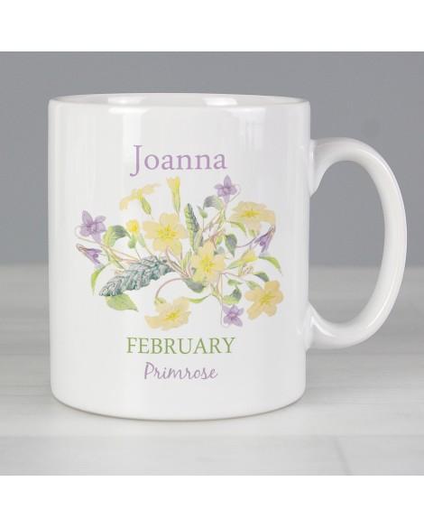 Personalised Country Diary February Mug
