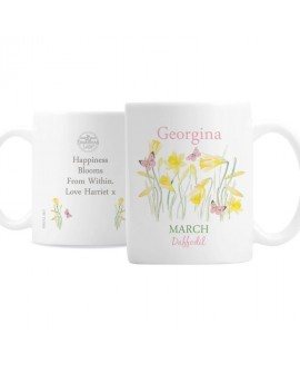 Personalised Country Diary March Mug