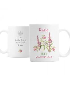 Personalised Country Diary July Mug