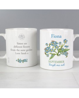 Personalised Country Diary September Mug
