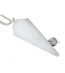 SNOW QUARTZ / ROCK CRYSTAL PENDULUM......