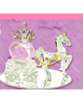 Wedding Gift Cinderella & Pumpkin Carriage Purple