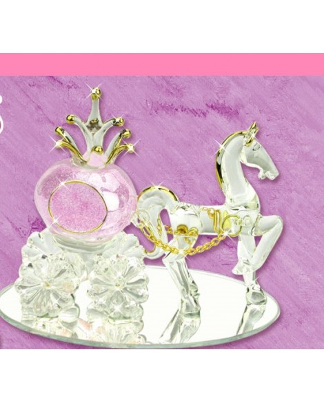 Wedding Gift Cinderella & Pumpkin Carriage Purple