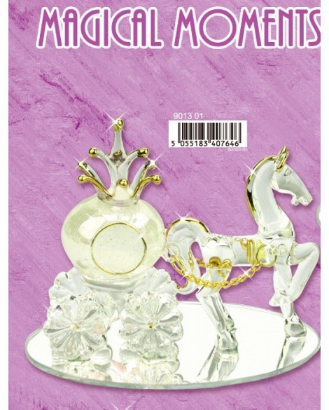 Wedding Gift Cinderella & Pumpkin Carriage White