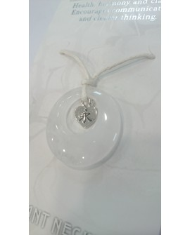 QUARTZ CRYSTAL QUARTZ PENDANT NECKLACE