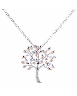 Lila Tree of Life Pendant 2 Tone