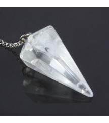 CLEAR QUARTZ / CRYSTAL QUARTZ PENDULUM