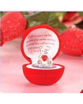 RED LOVE HEART TEDDY BEAR ROSE