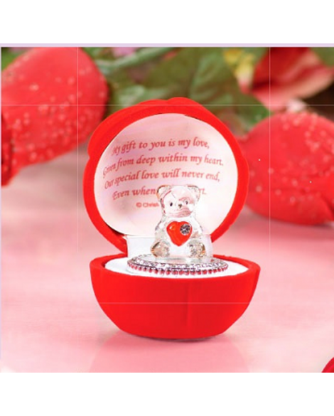 Valentine's Day Gift Red Love Heart Teddy Bear Rose