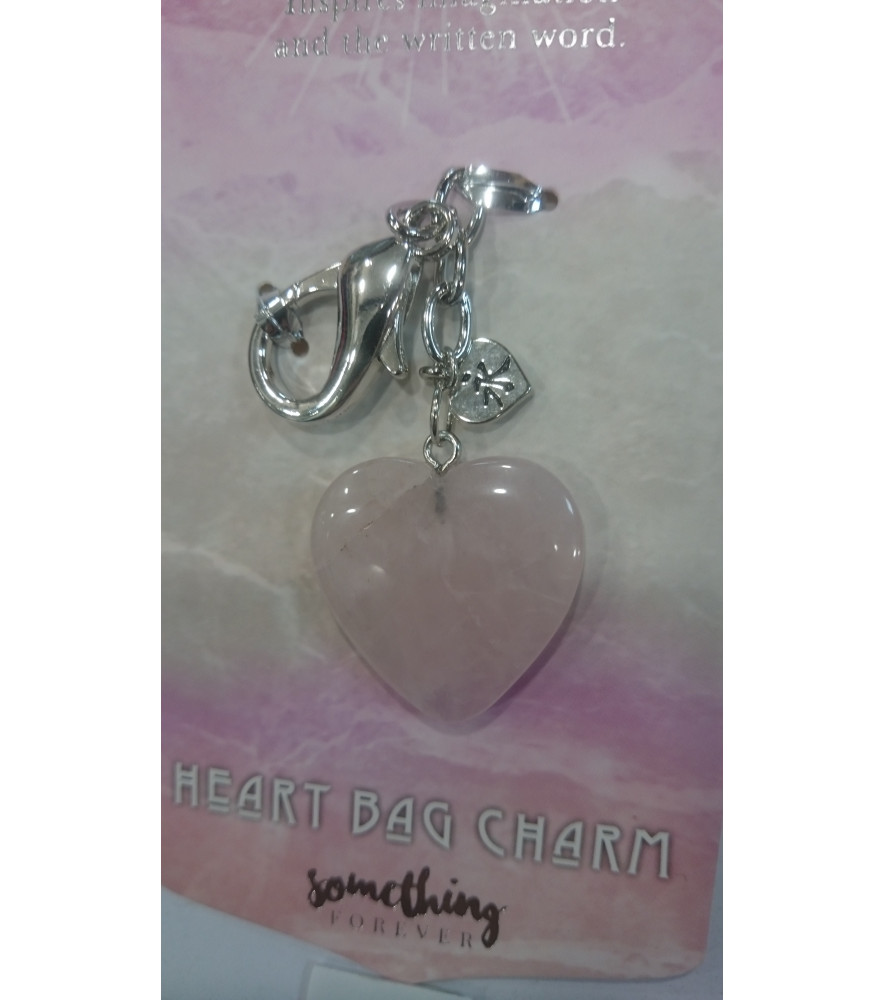 ROSE QUARTZ CHARM KEY RING