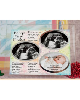 Baby Scans & 1st Photo Glass Frame