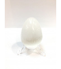 SELENITE GEMSTONE EGG + STAND