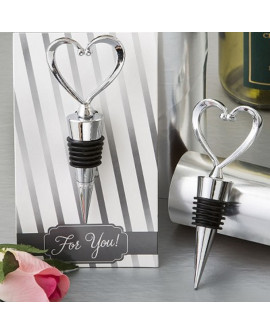Heart Silver Bottle Stopper Gift
