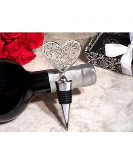 HEART SILVER BOTTLE STOPPER