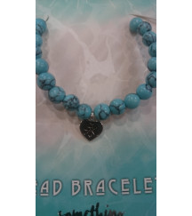 TURQUOISE/TURQUENTINE CHARM BEADS BRACELET