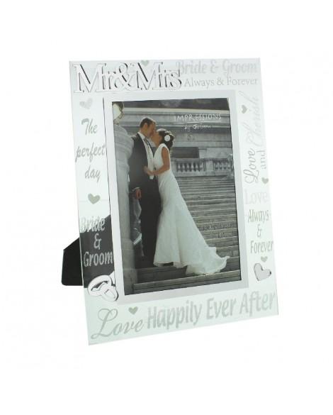 Wedding Gift Photo Frame Mirror Glass Glitter