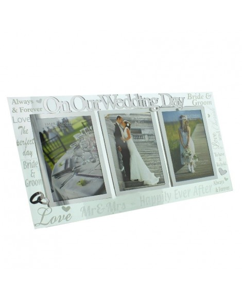 Wedding Gift Photo Frame Mirror Glass  22 x 40 cm
