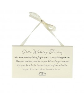 Wedding Gift Celtic Wedding Blessing Plaque