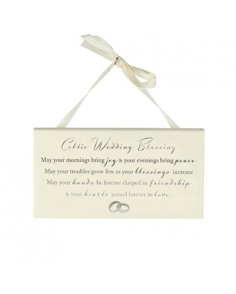Wedding Gift Celtic Wedding Blessing Plaque
