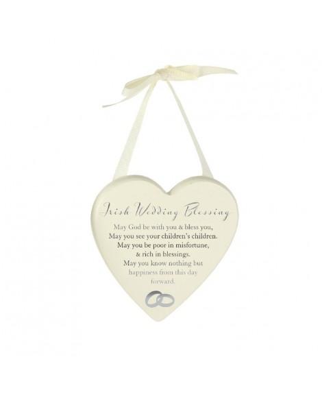Irish Blessing Wedding Heart Plaque