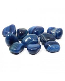 BLUE AGATE TUMBLE STONE