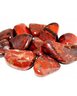 RED JASPER-BRECCIATED JASPER TUMBLE STONE