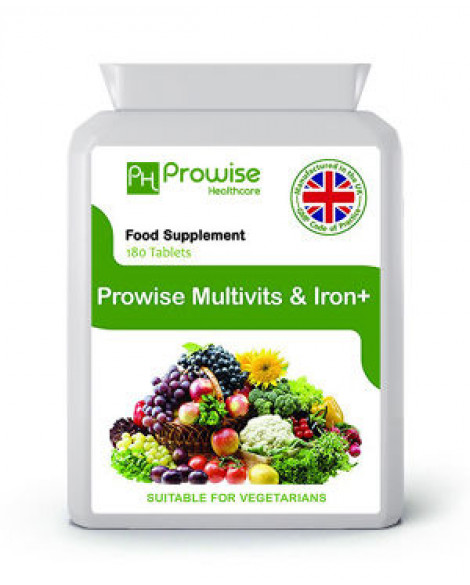 Multivits and Iron+ 180 Tablets by Prowise Healthcare