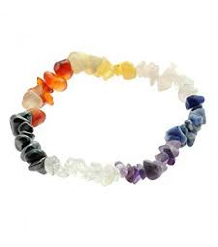 7 CHAKRAS CHIP BRACELET GEMSTONE