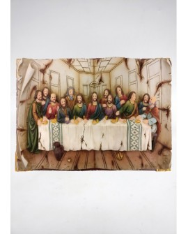 LAST SUPPER WALL PLAQUE BOOK SHAPE