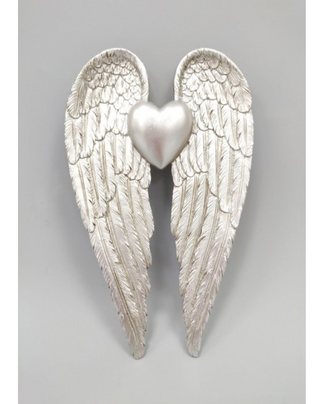 ANGEL WINGS WALL PLAQUE SILVER