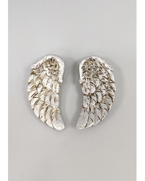 MINI ANGEL WINGS FRIDGE MAGNET SILVER GLITTER