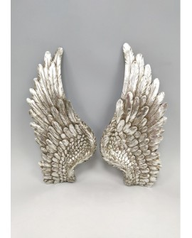 ANGEL WINGS WALL SCULPTURE SILVER GLITTER