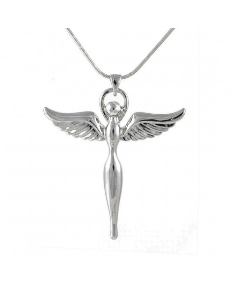 Lila Guardian Angel Pendant Necklace