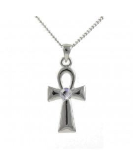 Lila Ankh Cross Pendant