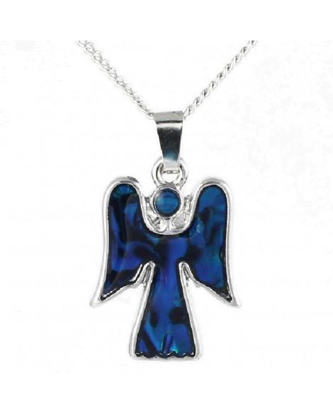 Lila Paua Shell Angel Pendant