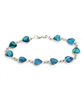 Lila Paua Shell Heart Shape Bracelet